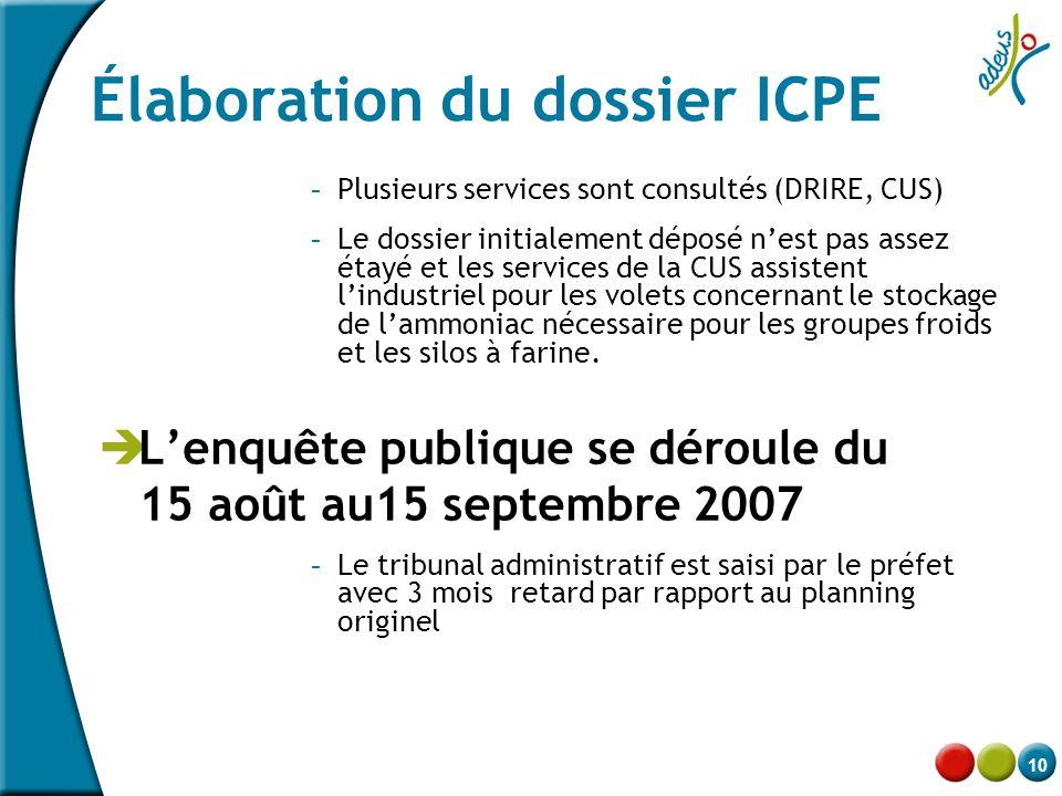 Élaboration du dossier ICPE