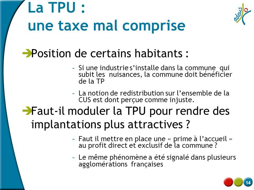 La TPU : une taxe mal comprise