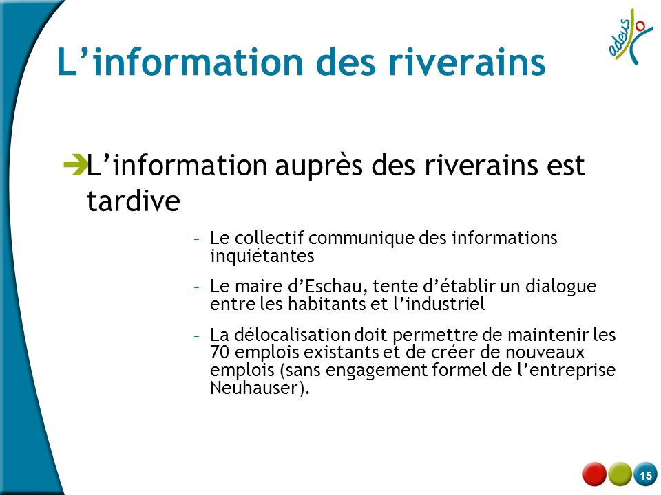 L'information des riverains