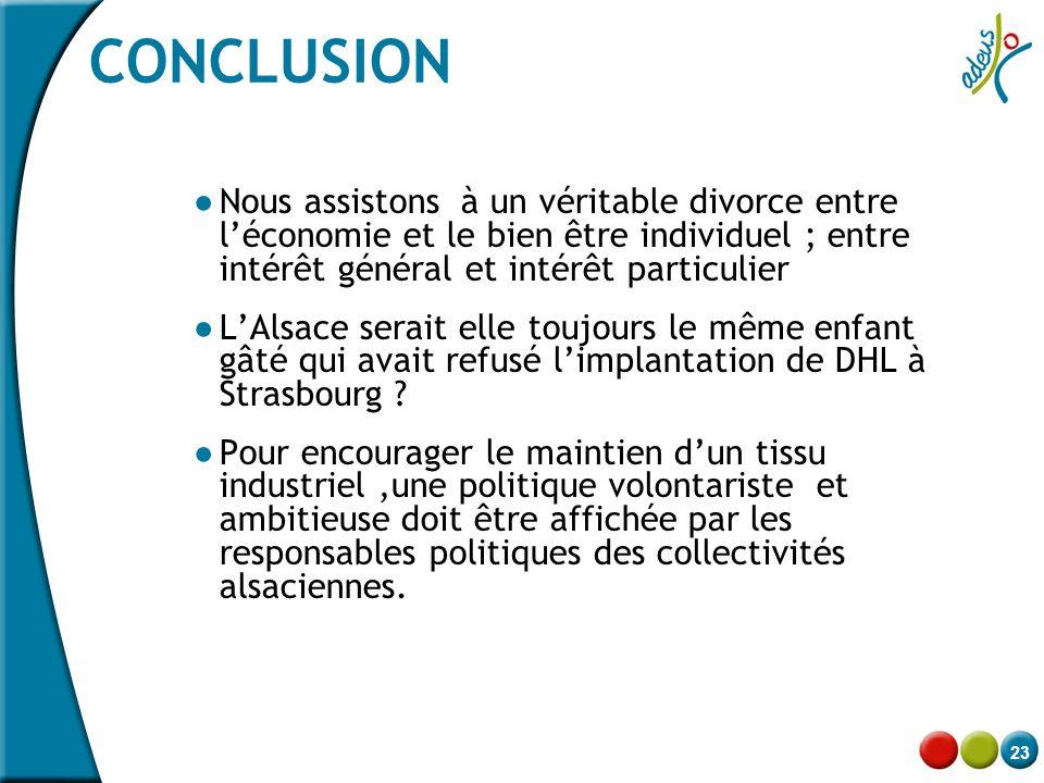 CONCLUSION Nous assistons à un véritable divorce entre l'économie et le bien être individuel ; entre intérêt général et intérêt particulier.
