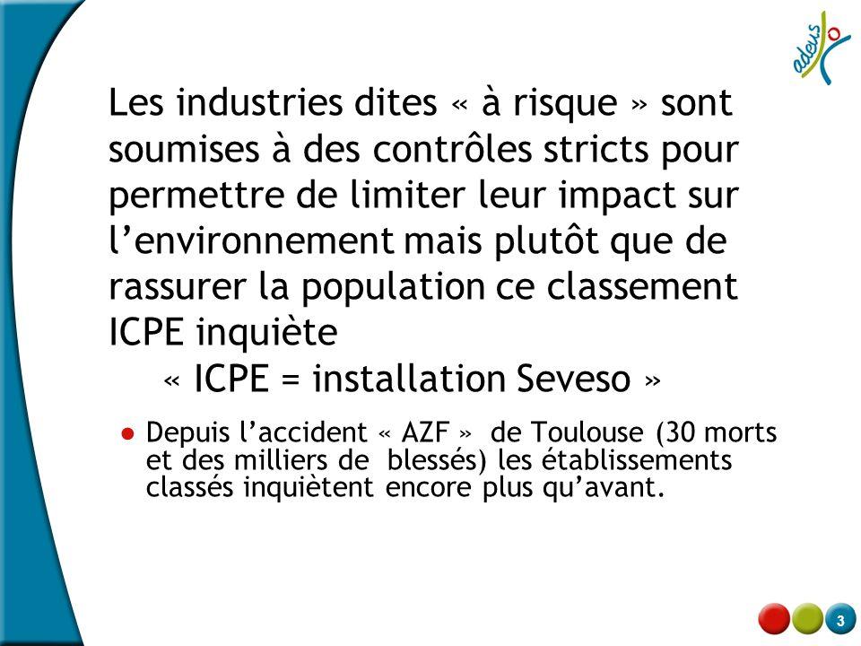 « ICPE = installation Seveso »
