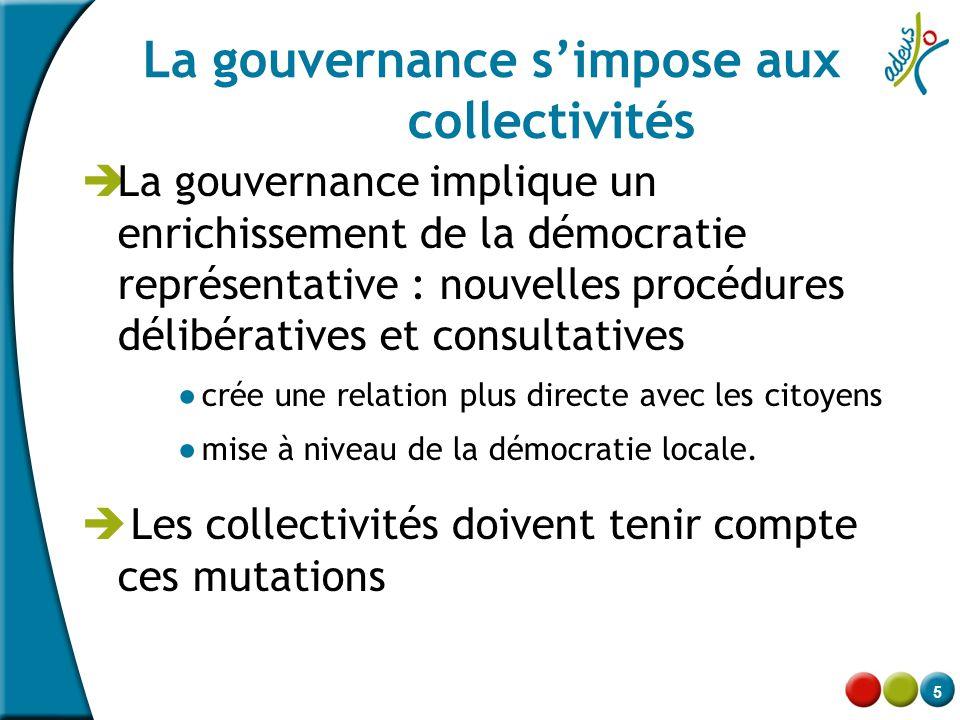 La gouvernance s'impose aux collectivités
