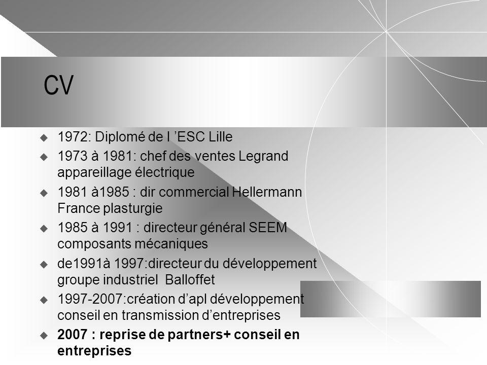 CV 1972: Diplomé de l 'ESC Lille