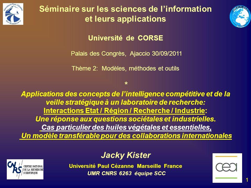 Séminaire sur les sciences de l'information et leurs applications
