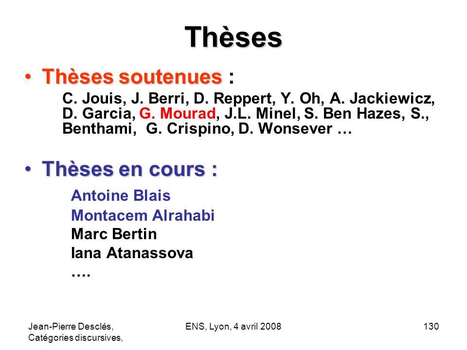 Thèses Thèses soutenues : Thèses en cours : Antoine Blais