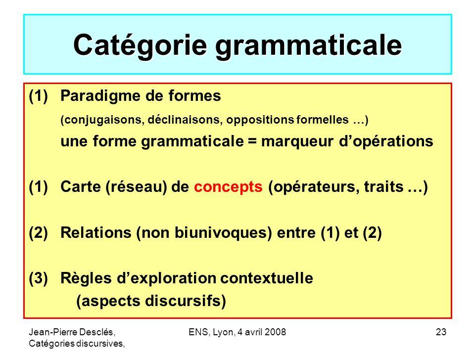Catégorie grammaticale