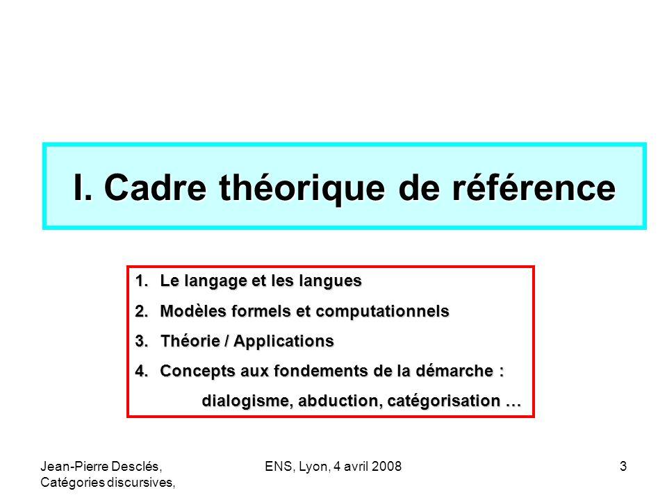 I. Cadre théorique de référence