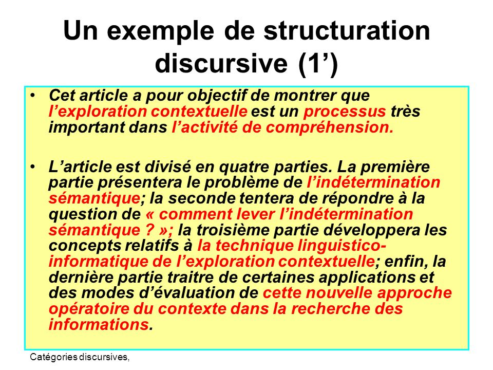 Un exemple de structuration discursive (1')