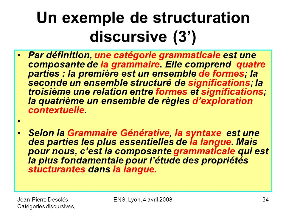 Un exemple de structuration discursive (3')