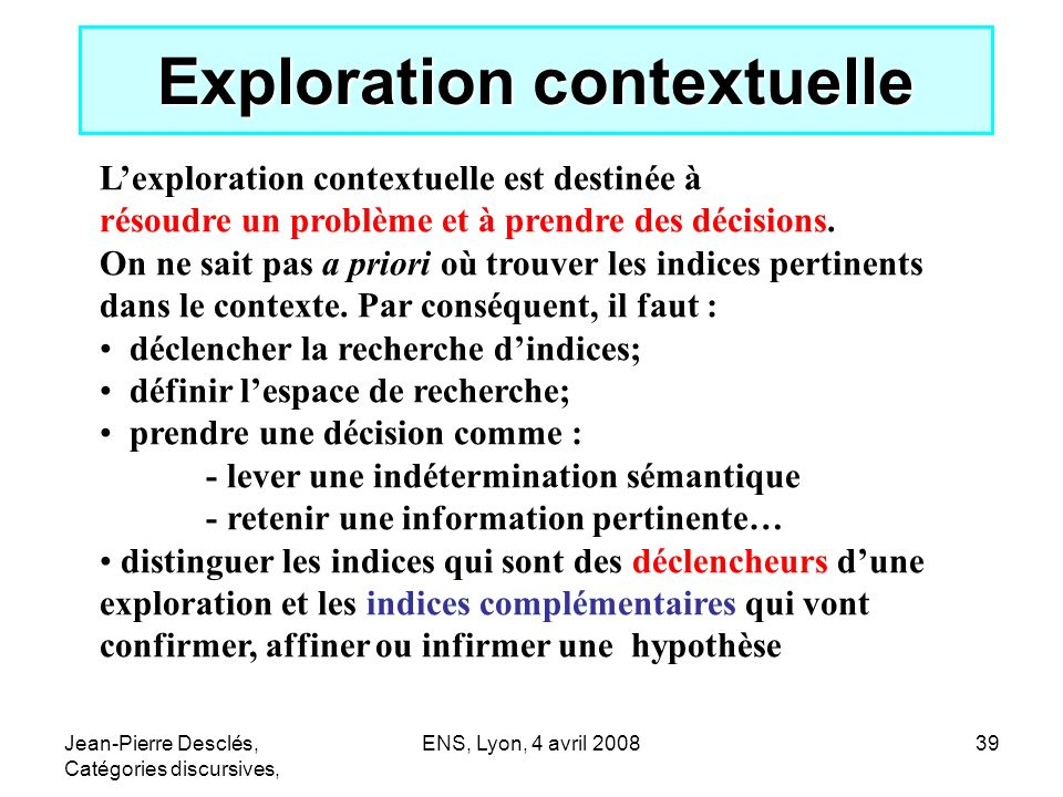 Exploration contextuelle