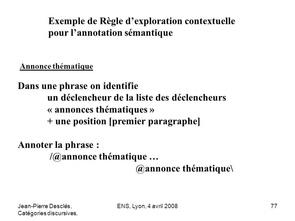 Exemple de Règle d'exploration contextuelle