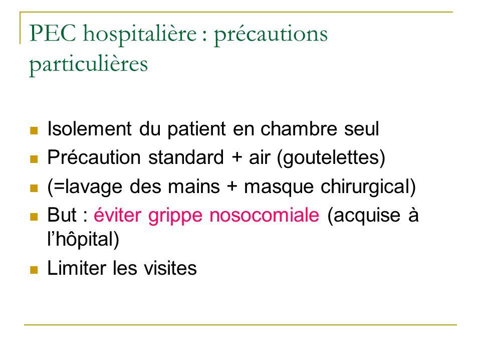 PEC hospitalière : précautions particulières