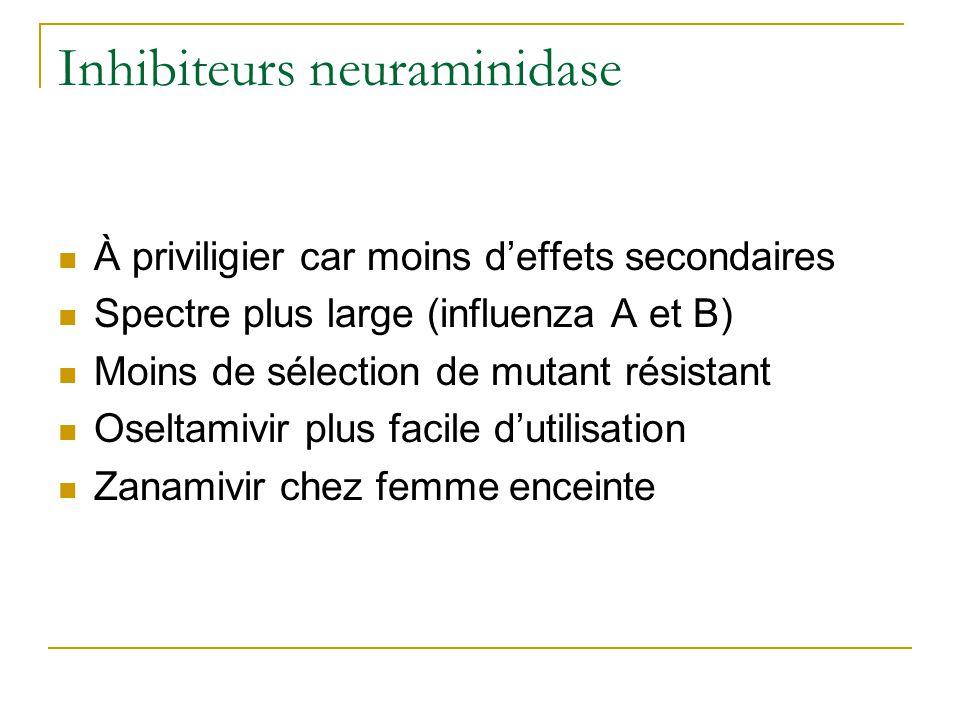 Inhibiteurs neuraminidase