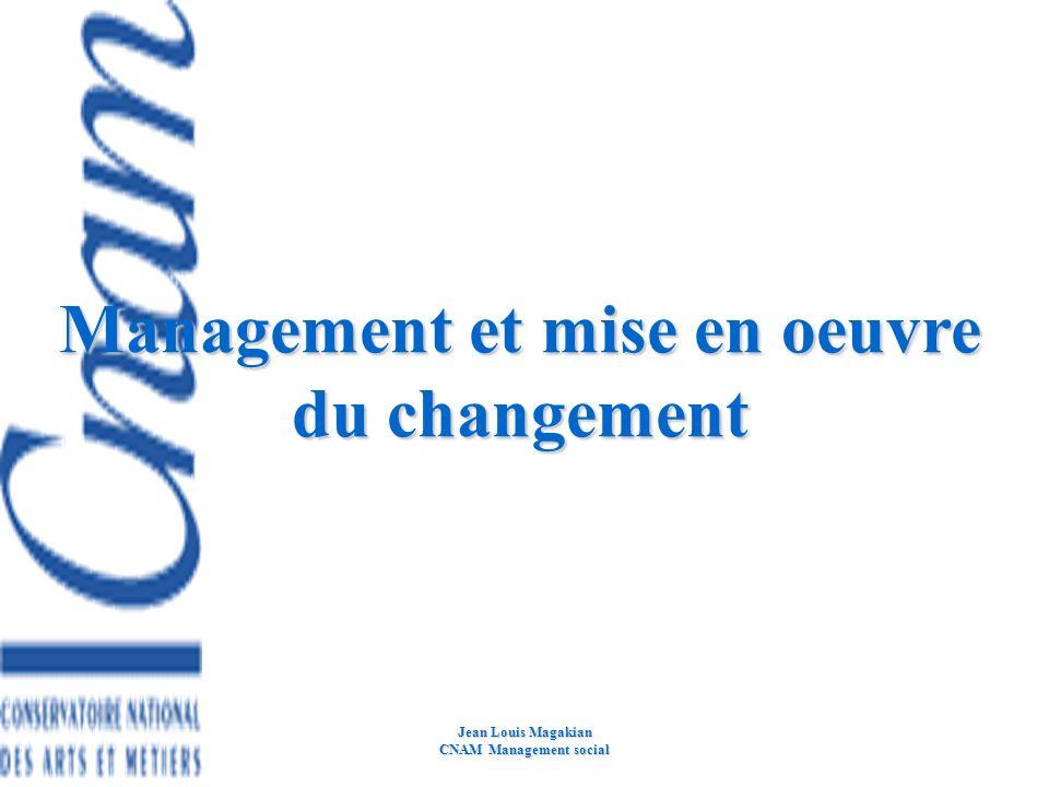 Management et mise en oeuvre du changement CNAM Management social