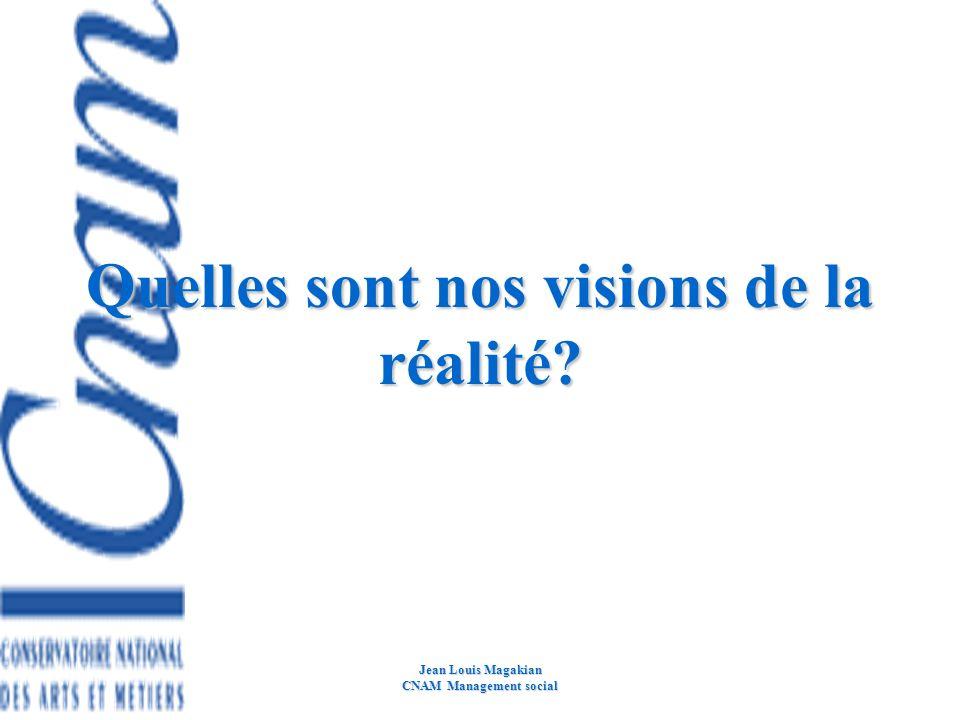 Quelles sont nos visions de la réalité