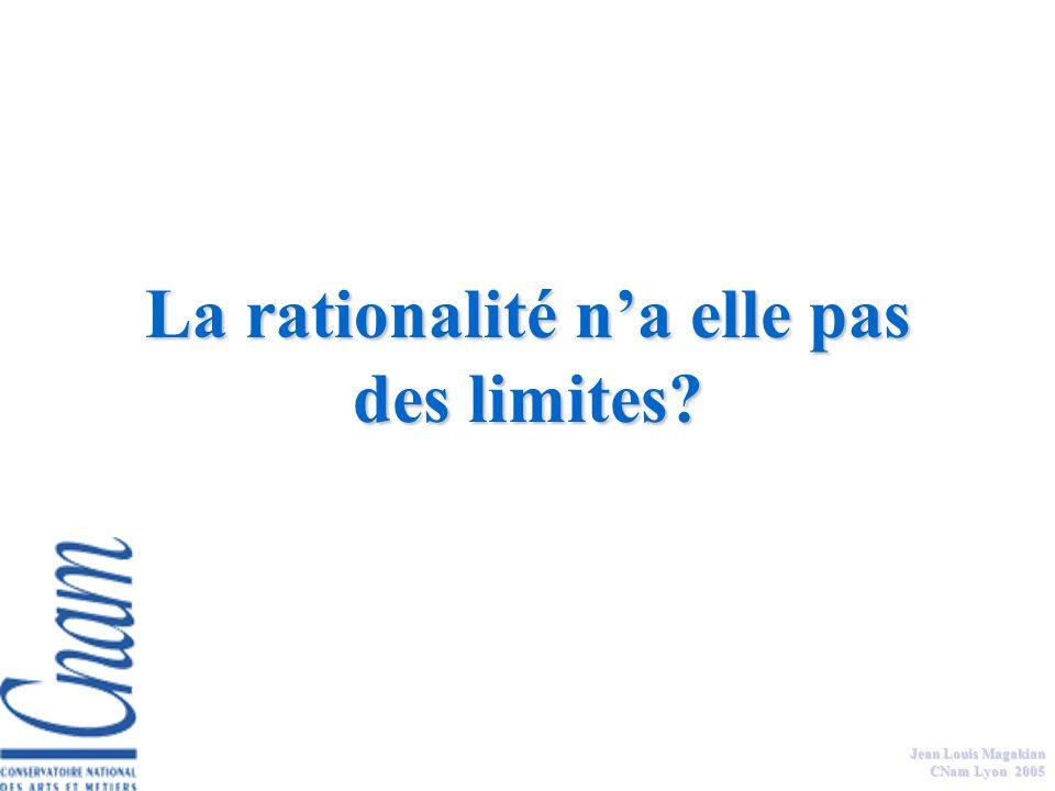 La rationalité n'a elle pas des limites