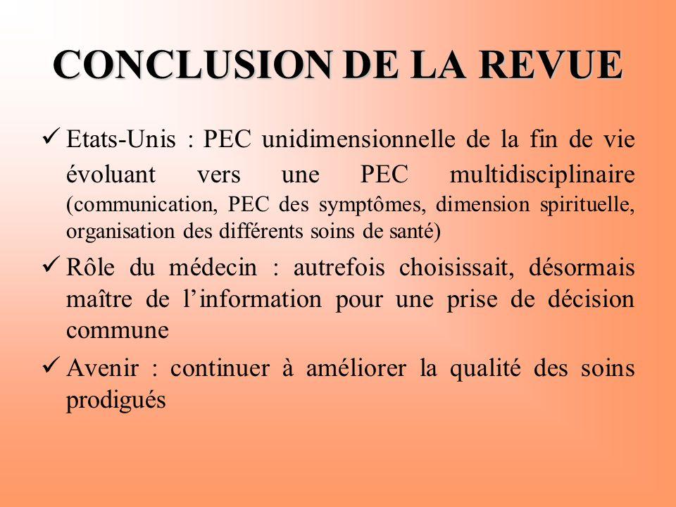 CONCLUSION DE LA REVUE