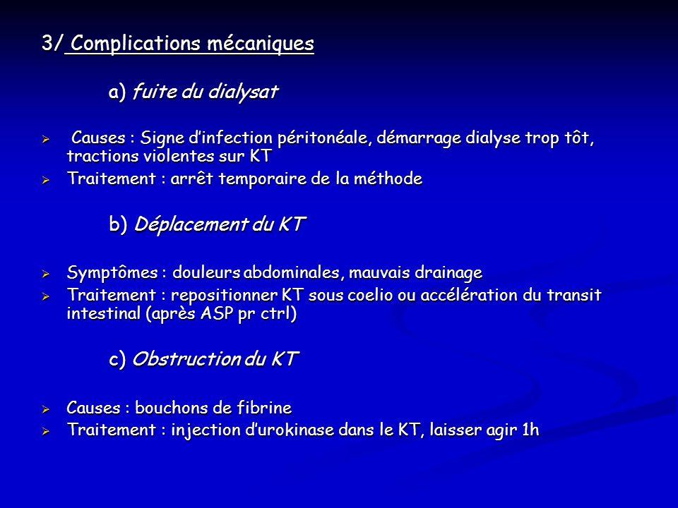 3/ Complications mécaniques