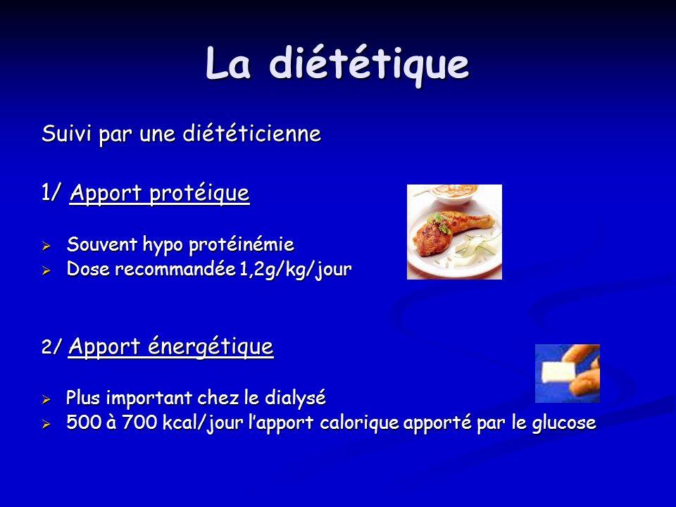 La diététique Suivi par une diététicienne 1/ Apport protéique