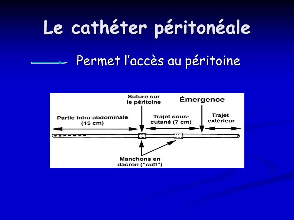 Le cathéter péritonéale