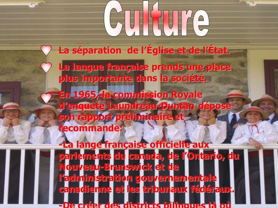 Culture La séparation de l'Église et de l'État.