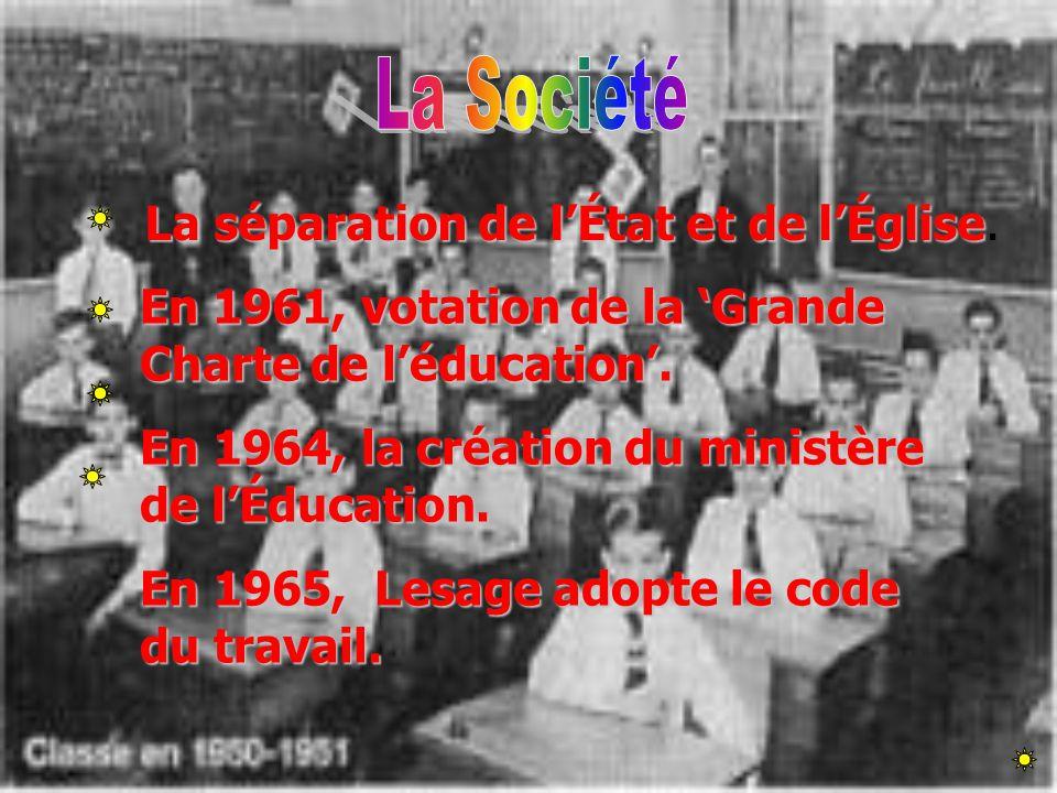 La Société La séparation de l'État et de l'Église.