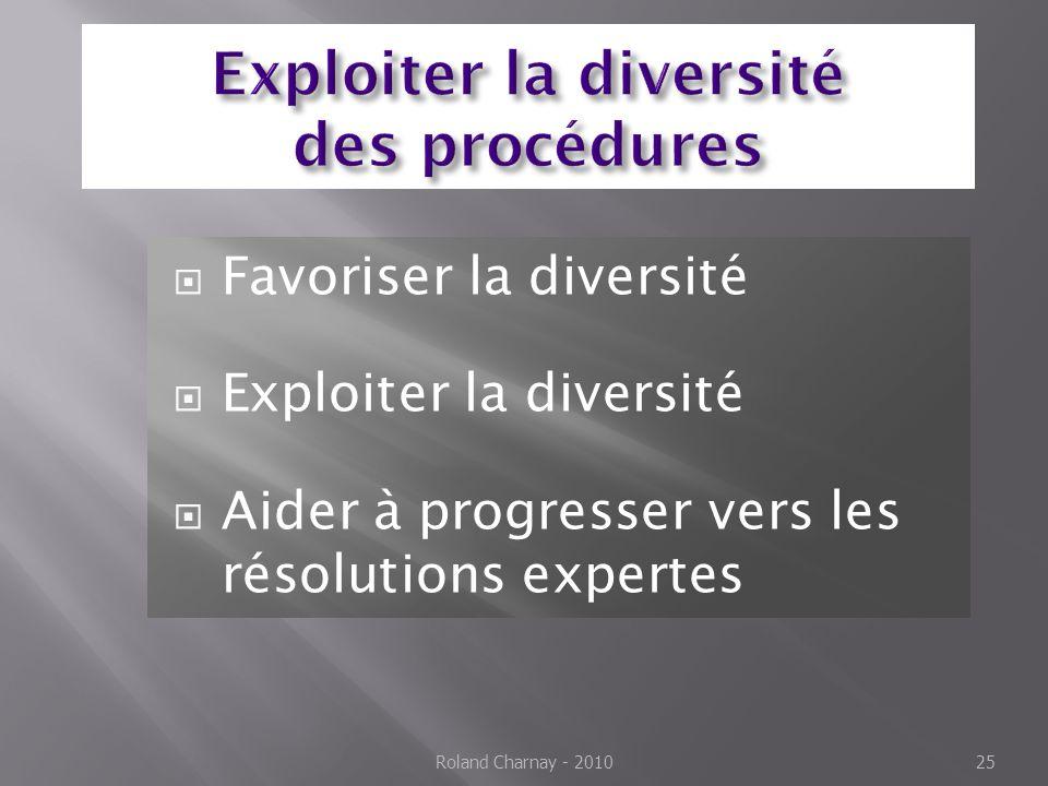 Exploiter la diversité des procédures