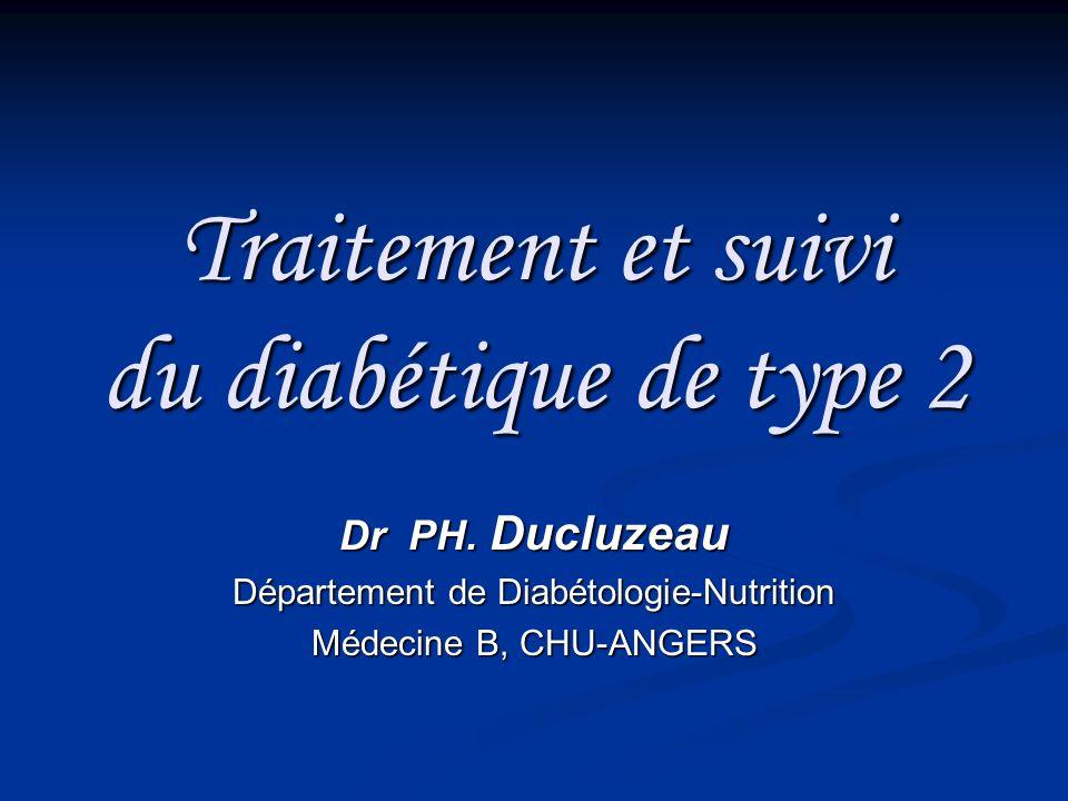 Traitement et suivi du diabétique de type 2