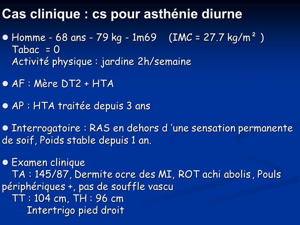 Cas clinique : cs pour asthénie diurne