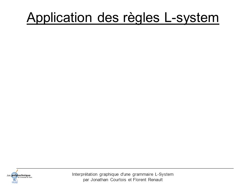 Application des règles L-system