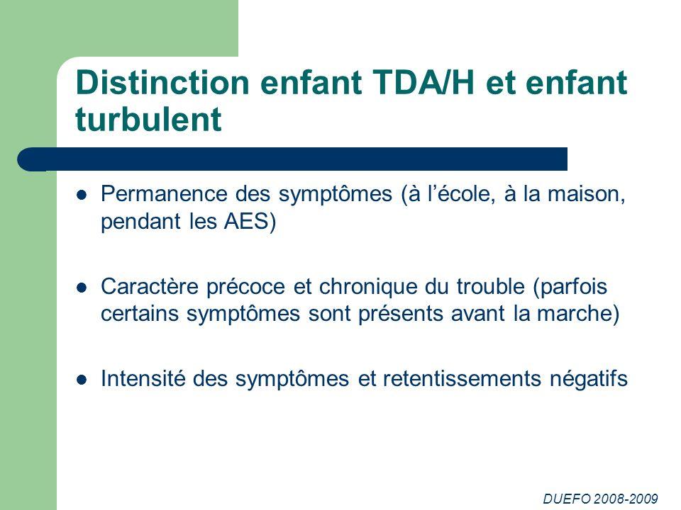 Distinction enfant TDA/H et enfant turbulent