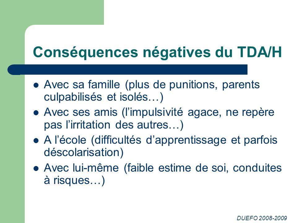 Conséquences négatives du TDA/H