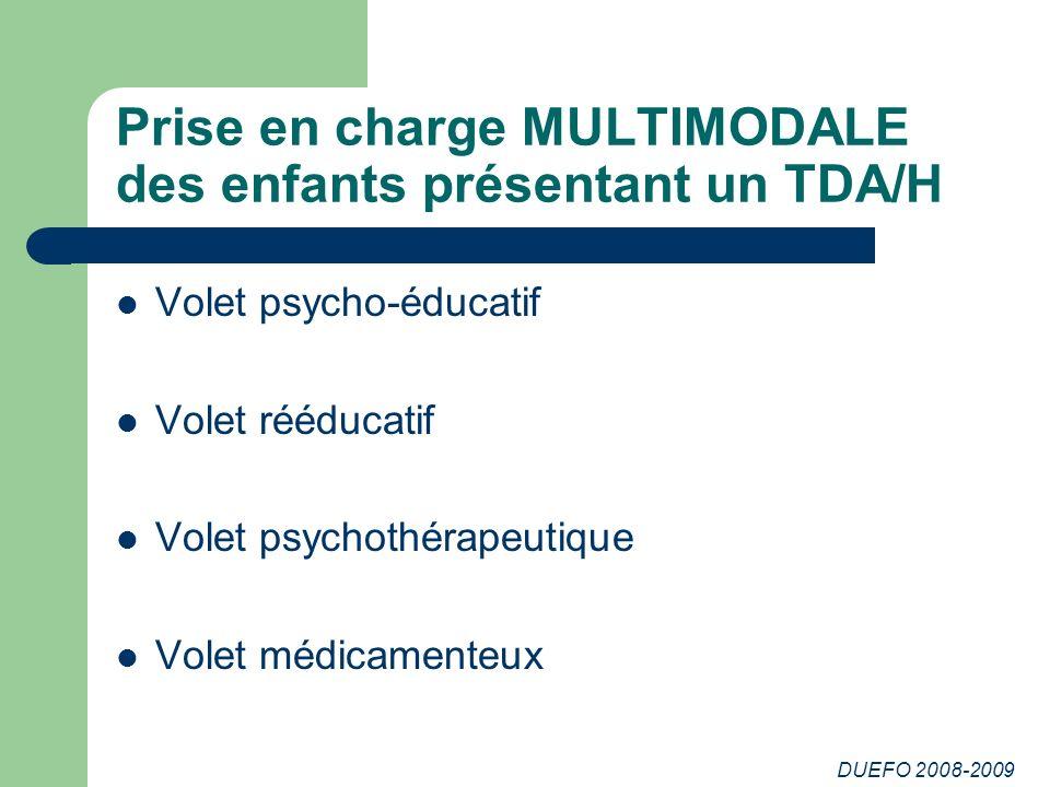 Prise en charge MULTIMODALE des enfants présentant un TDA/H