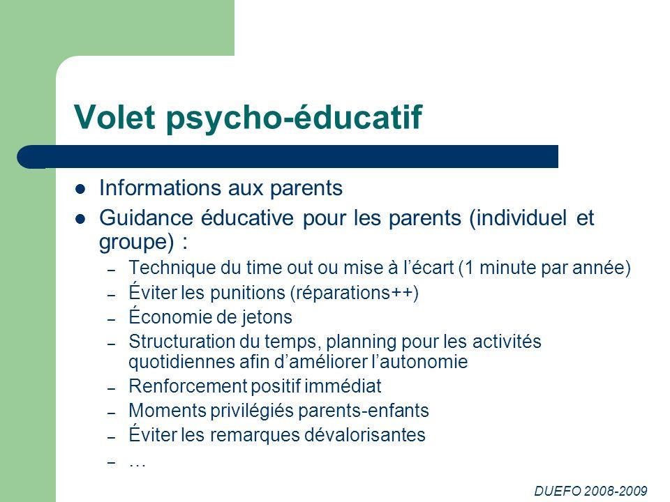 Volet psycho-éducatif