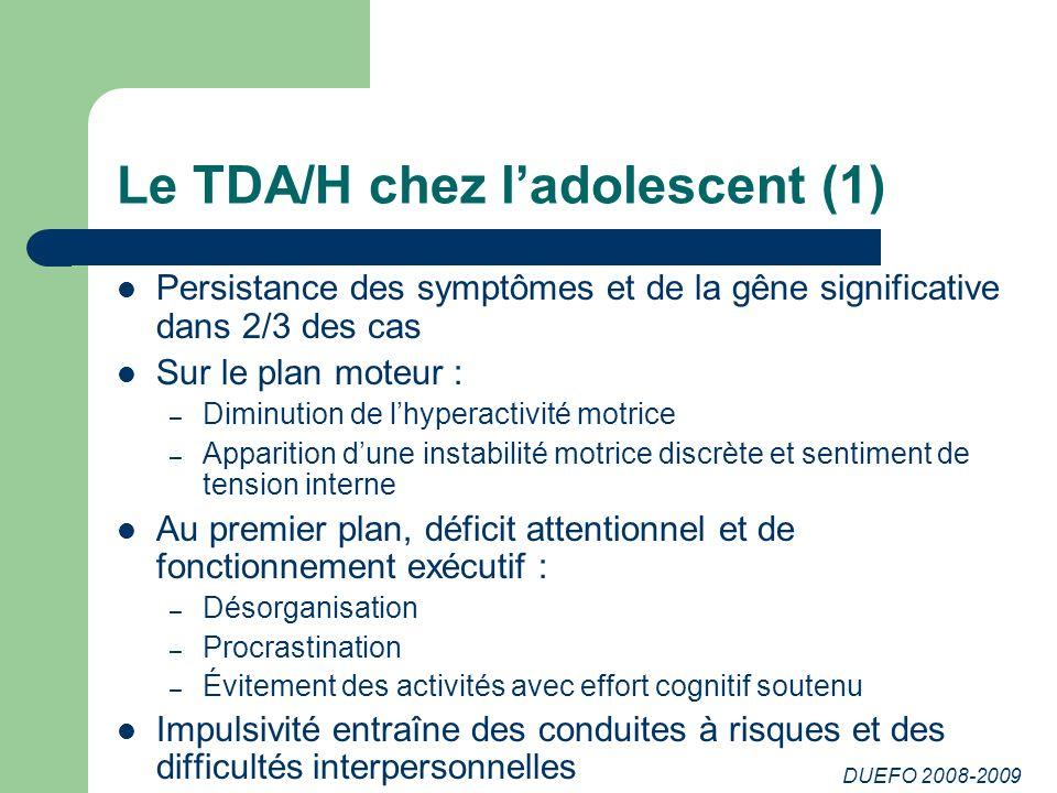 Le TDA/H chez l'adolescent (1)