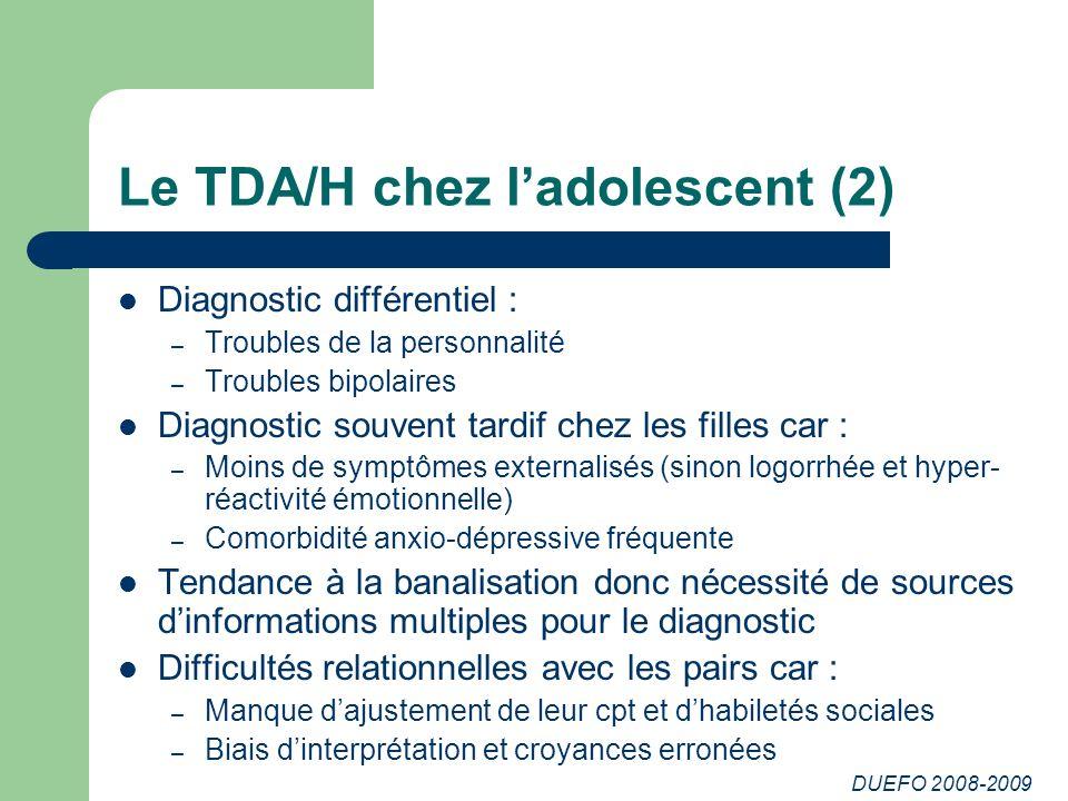 Le TDA/H chez l'adolescent (2)