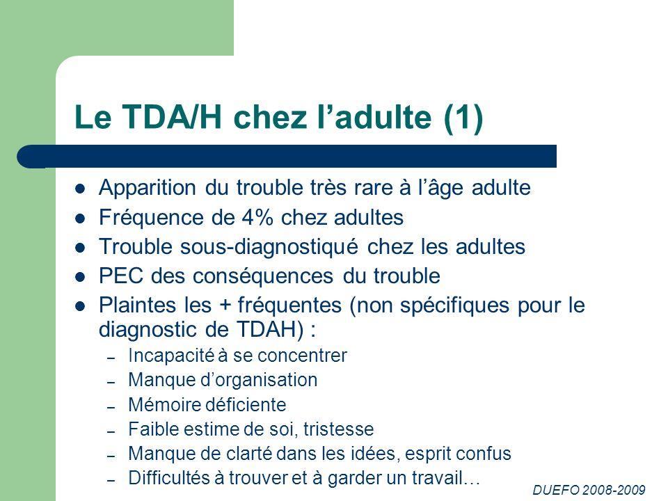 Le TDA/H chez l'adulte (1)