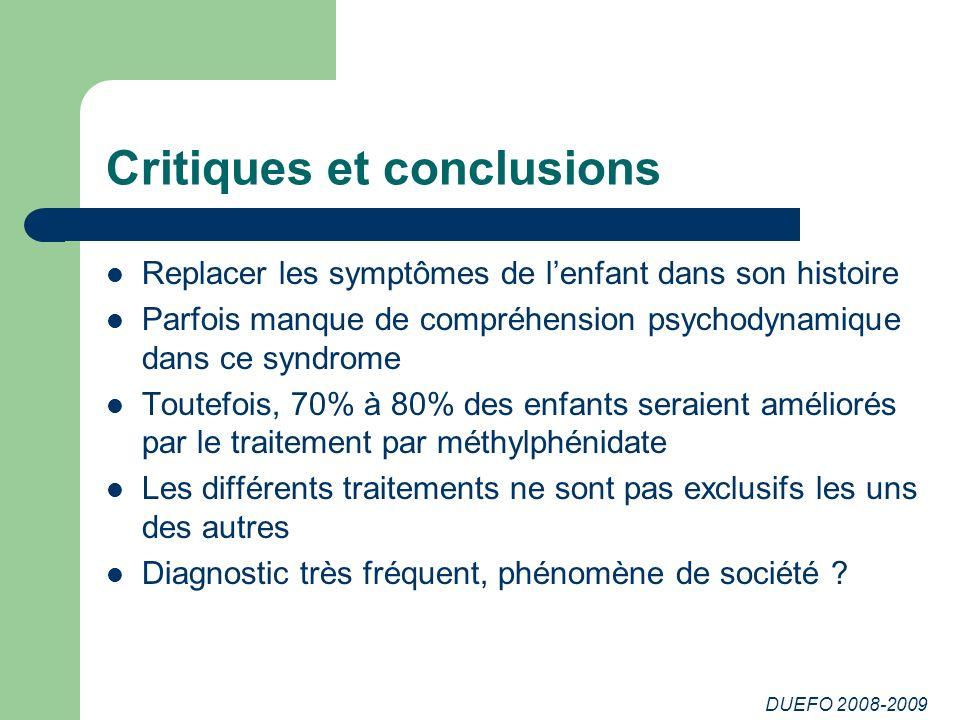 Critiques et conclusions