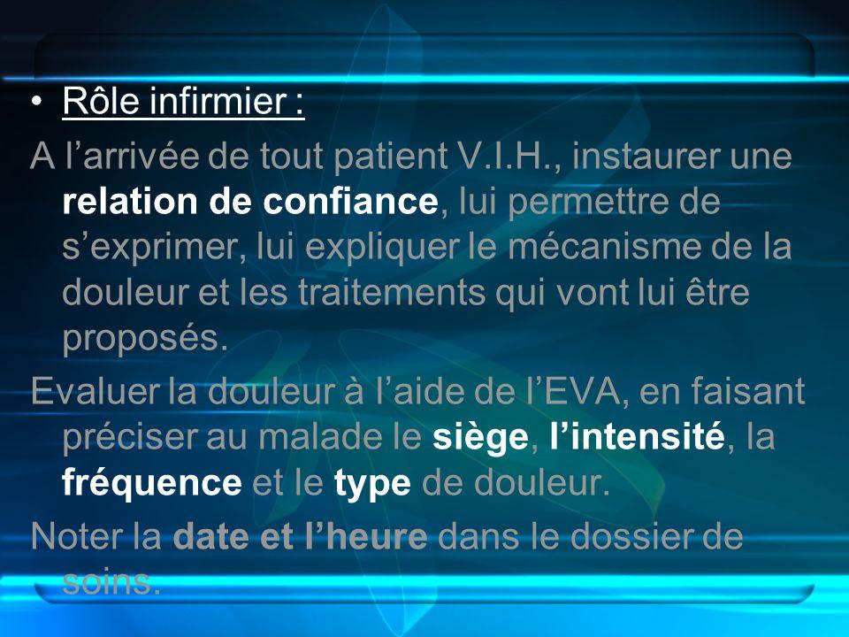 Rôle infirmier :