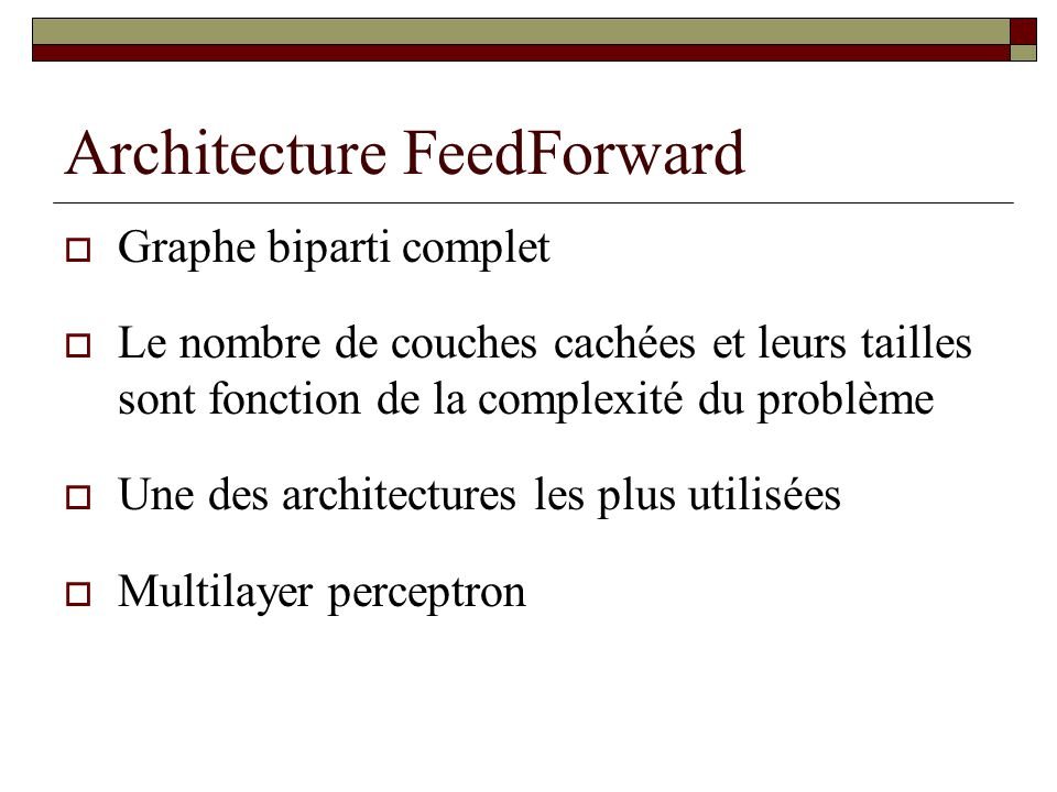 Architecture FeedForward