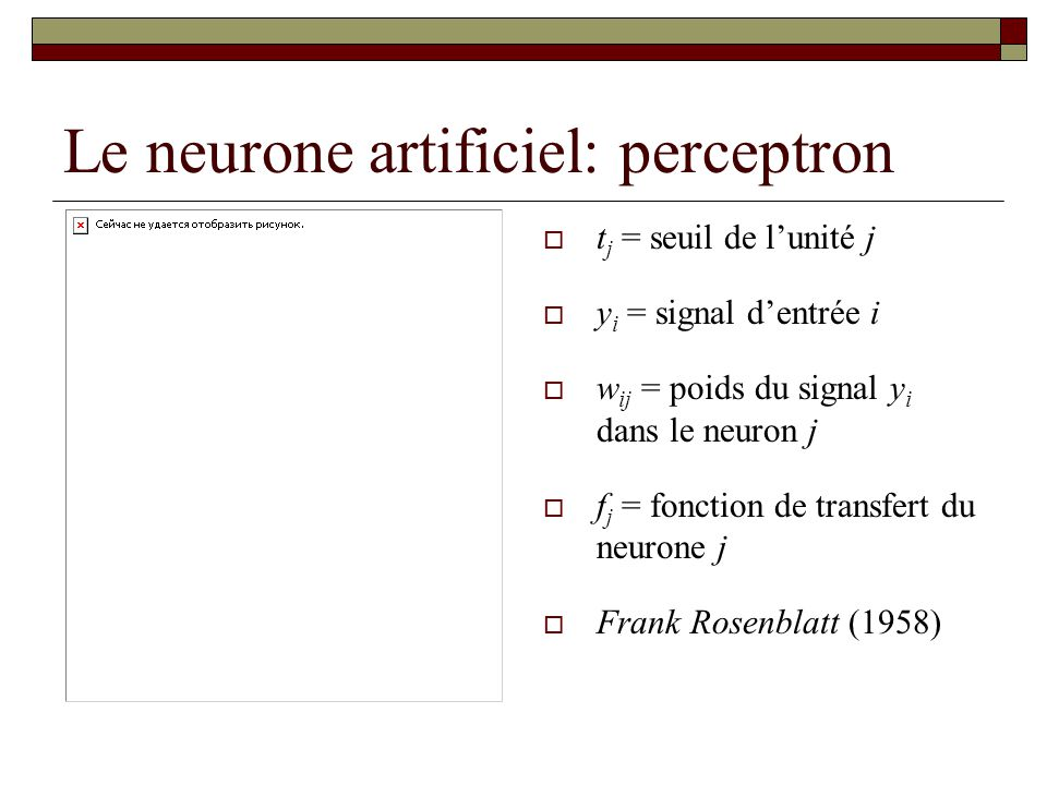 Le neurone artificiel: perceptron