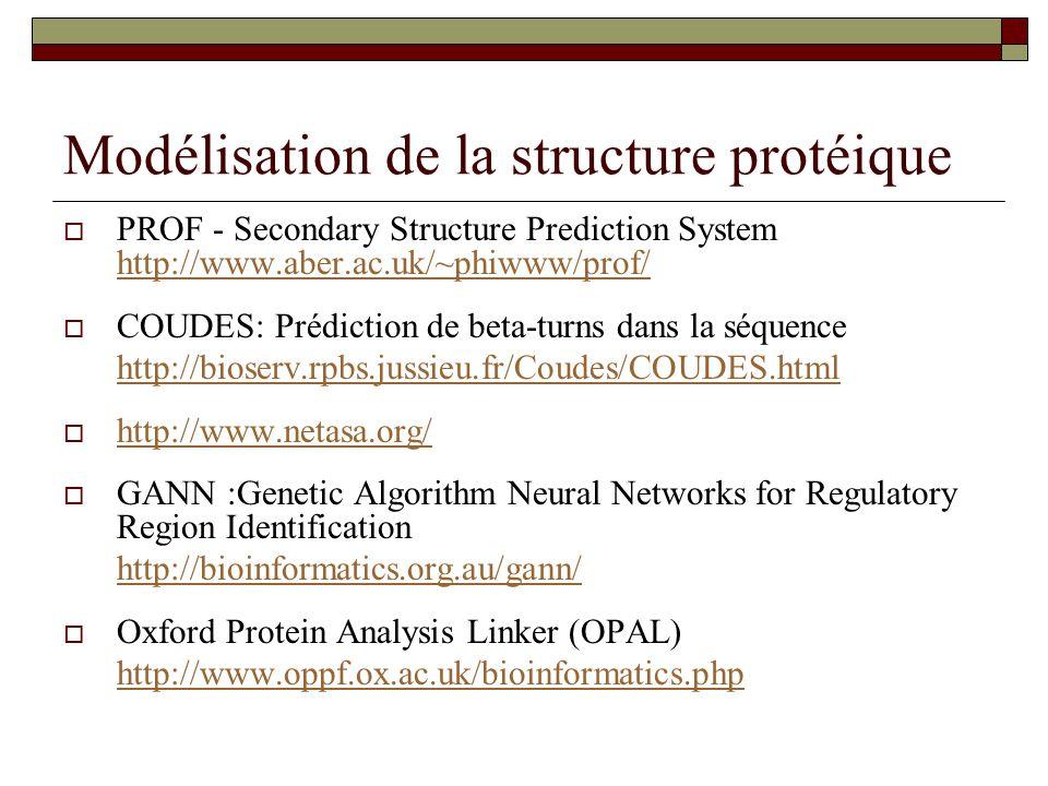 Modélisation de la structure protéique