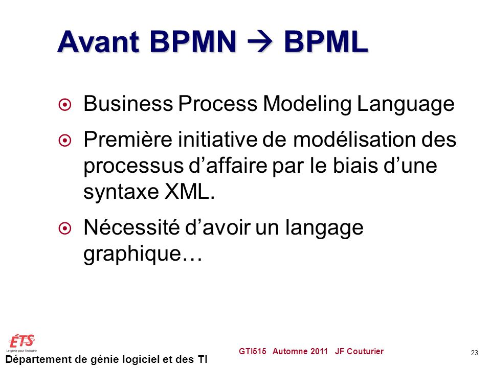 Avant BPMN  BPML Business Process Modeling Language