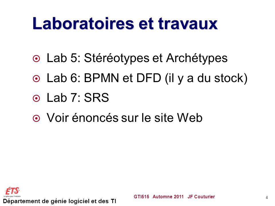 Laboratoires et travaux
