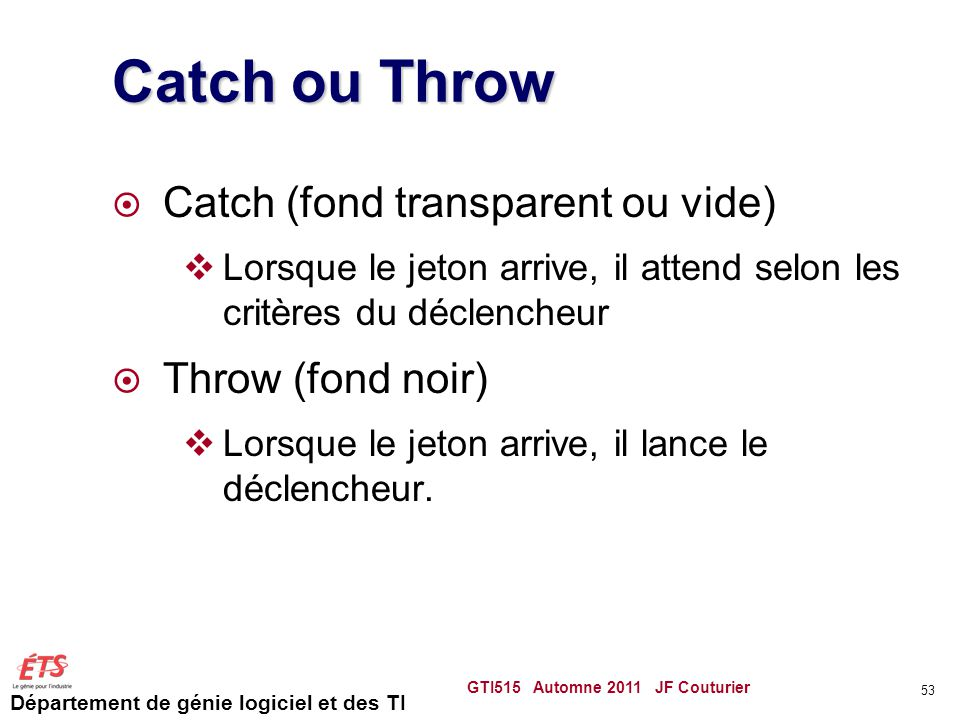 Catch ou Throw Catch (fond transparent ou vide) Throw (fond noir)