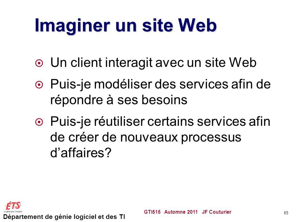 Imaginer un site Web Un client interagit avec un site Web