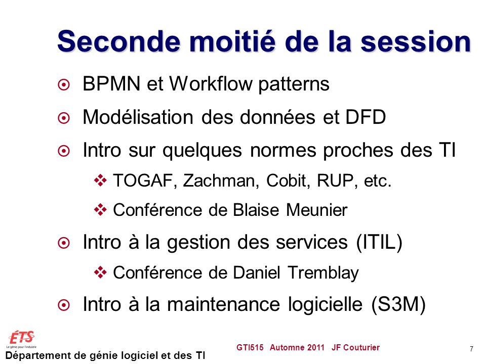Seconde moitié de la session