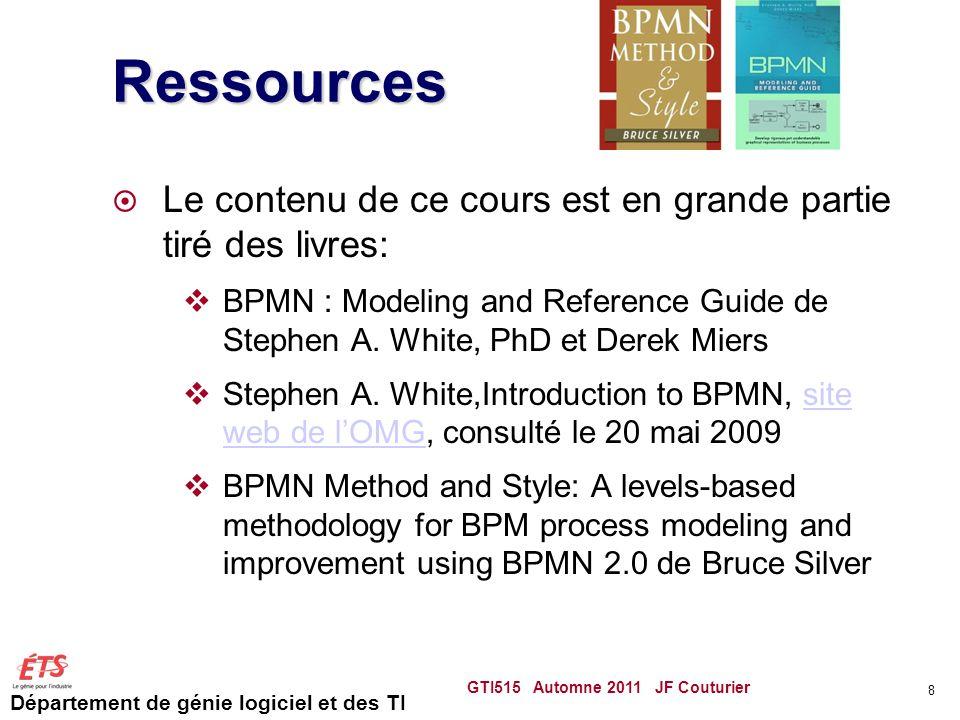 Ressources Le contenu de ce cours est en grande partie tiré des livres: