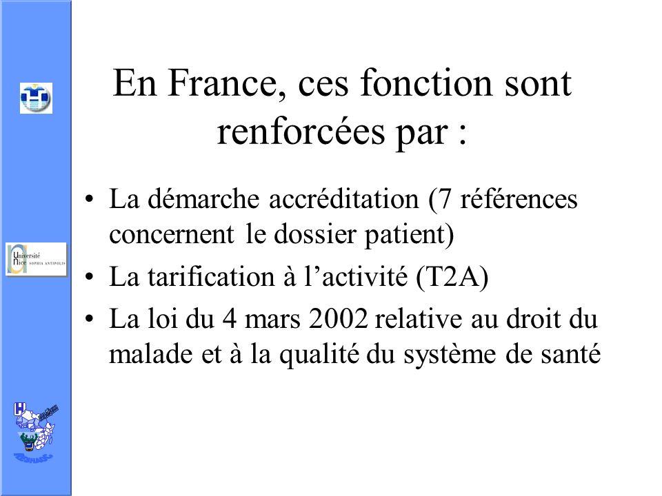 En France, ces fonction sont renforcées par :
