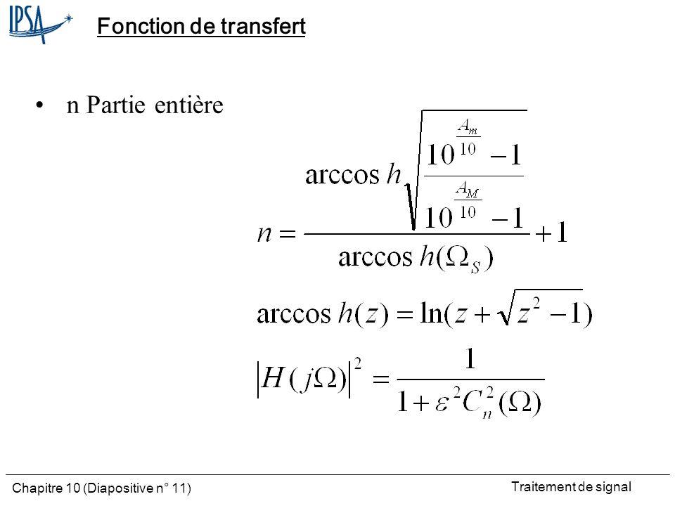 Fonction de transfert n Partie entière